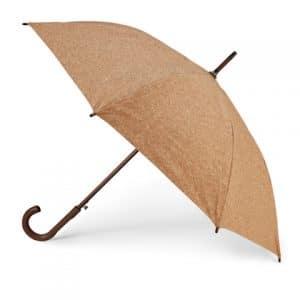 regalos promocionales para invierno: paraguas corcho