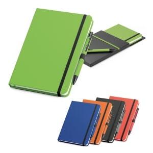 set de bolígrafo y bloc de notas